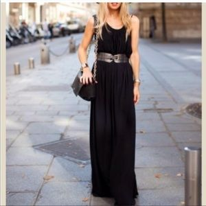 SPAGHETTI STRAPS MAXI DRESS WITH SIDE POCKETS